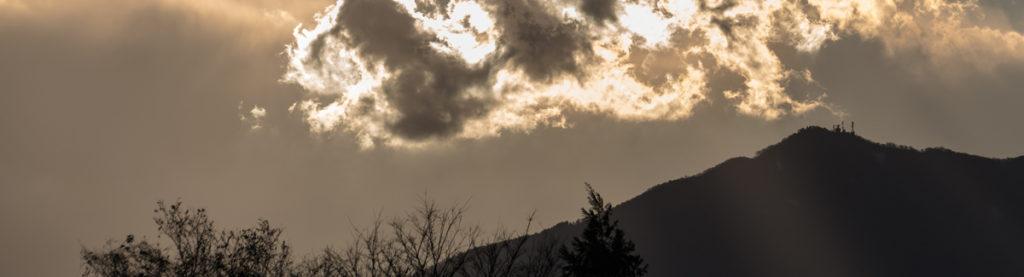 夕方の大山