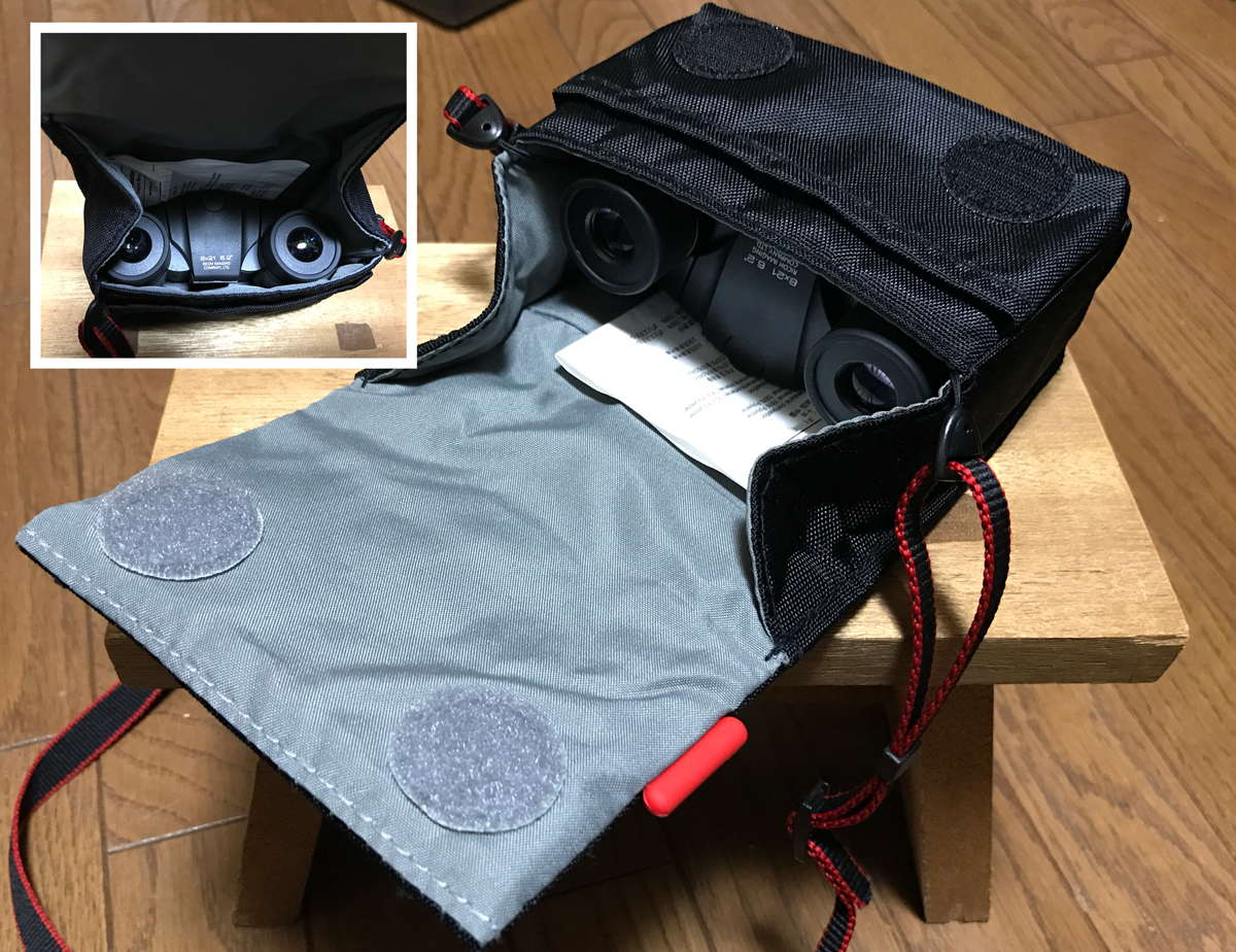 PENTAX UCF R 8x21 双眼鏡 Manfrotto デジタルカメラケース STILE