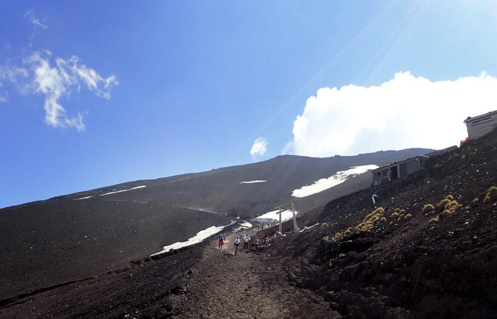 富士登山下山吉田ルート