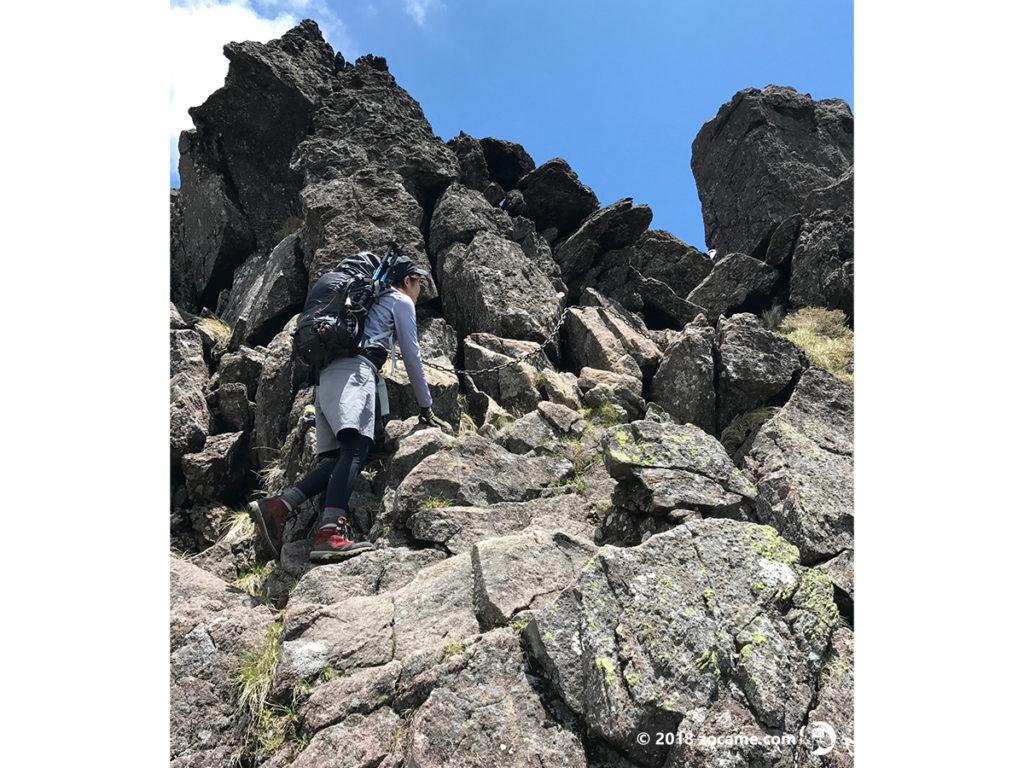 三ツ岳登山道