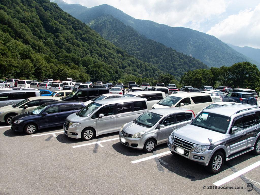 扇沢有料第一駐車場