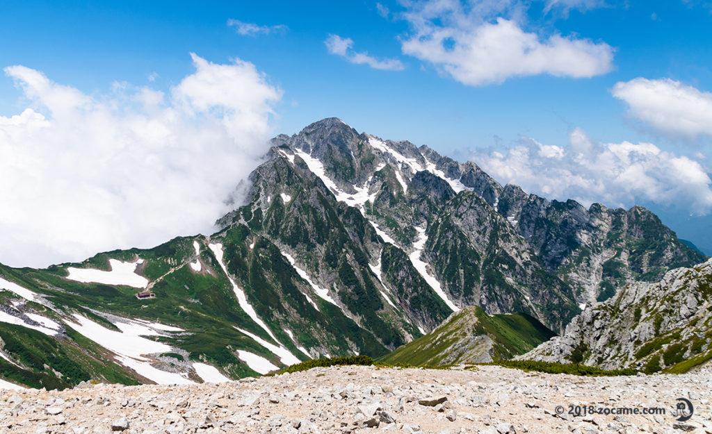 別山から剣岳