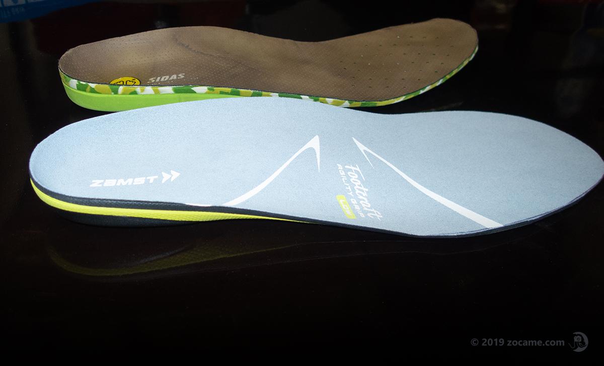 スカルパレベルGTXに使うインソール比較/踝ザムストフットクラフト・シダスアウトドア3D
