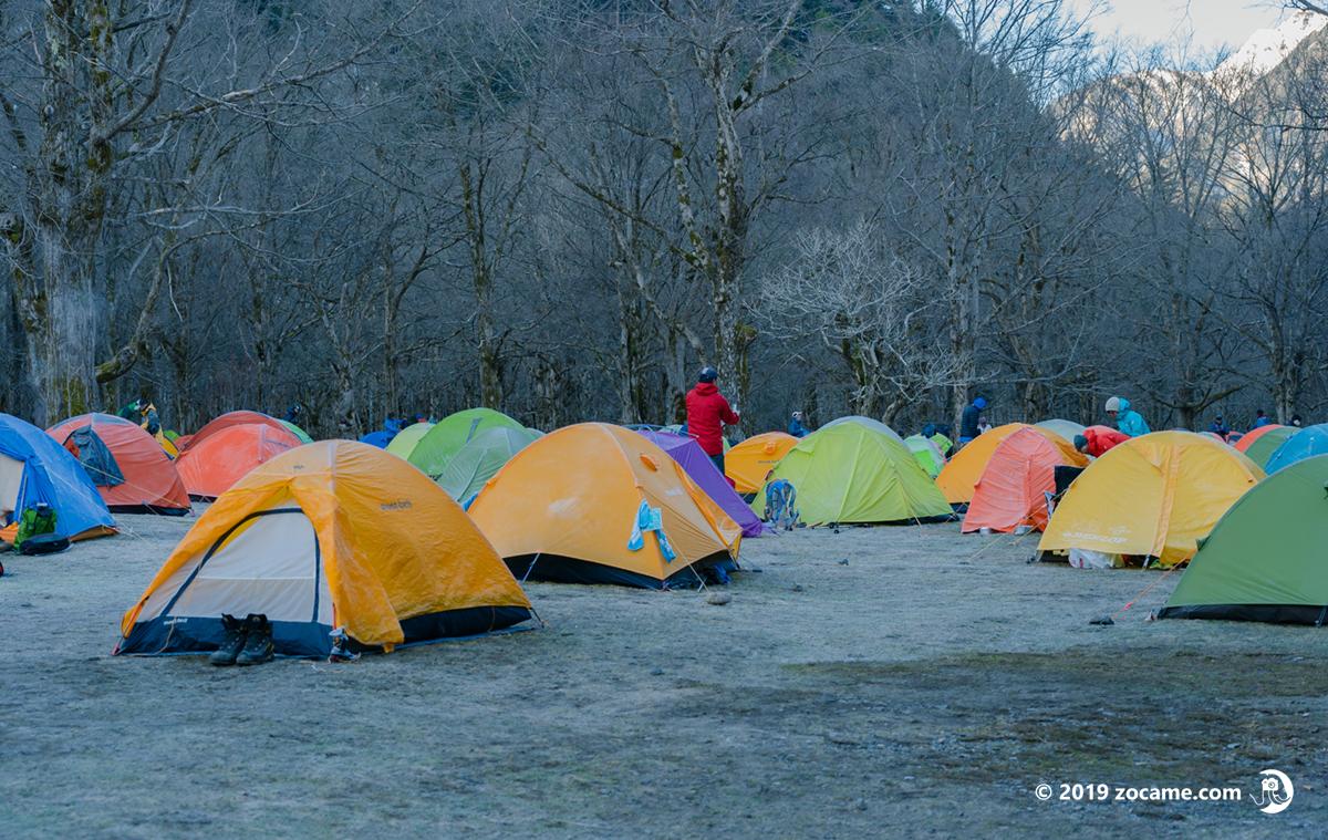 5月GW徳澤キャンプ場朝寒い