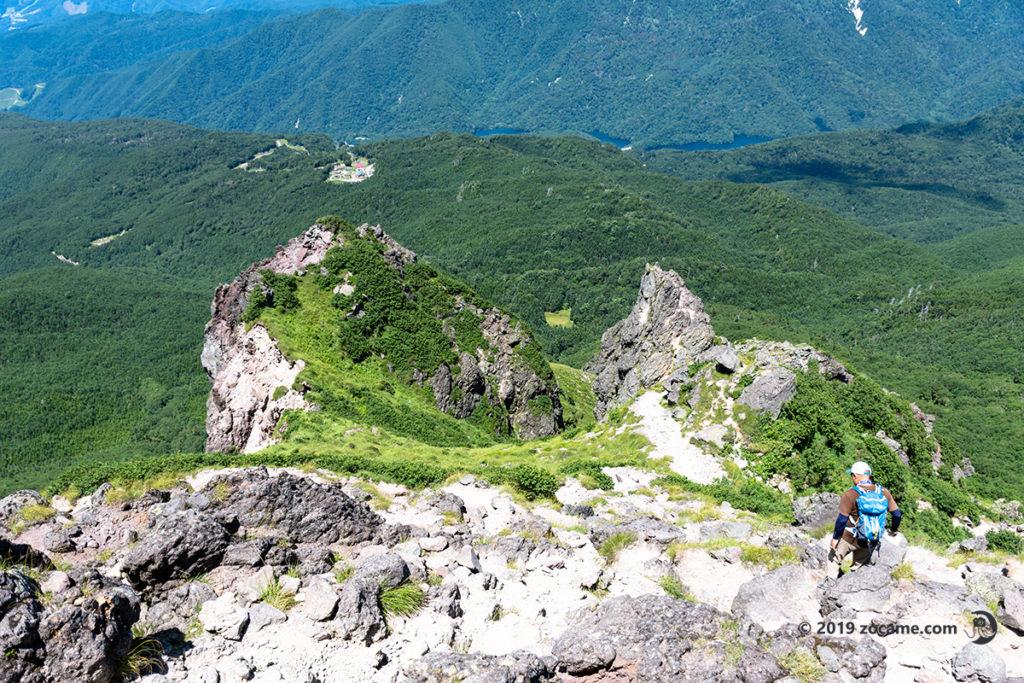 白根山8月お盆下山の様子