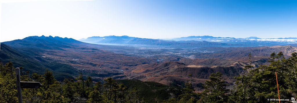 蓼科山登山口から11月登山中腹