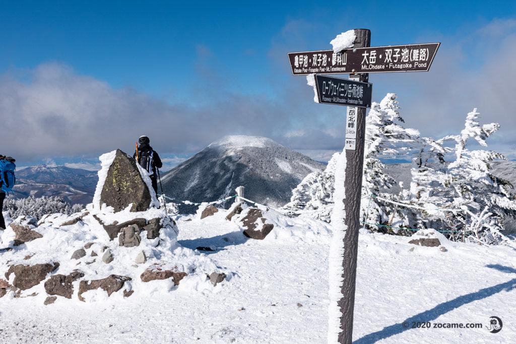 年始北横岳から蓼科山