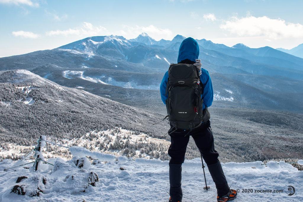 正月北横岳から南八ヶ岳