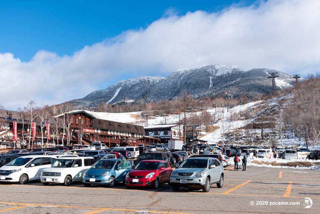 北横岳1月駐車場